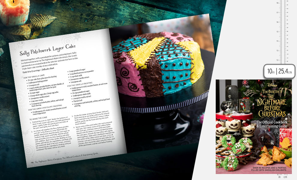 Gallery Feature Image of The Nightmare Before Christmas: The Official Cookbook & Entertaining Guide Book - Click to open image gallery