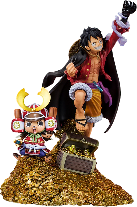 "Bandai Monkey D. Luffy (WT100 Commemorative Eiichiro Oda Illustration ""DAIKAIZOKU HYAKKEI"") Collectible Set"