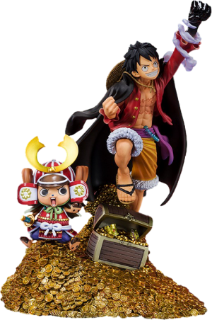 "Monkey D. Luffy (WT100 Commemorative Eiichiro Oda Illustration ""DAIKAIZOKU HYAKKEI"") Collectible Set"