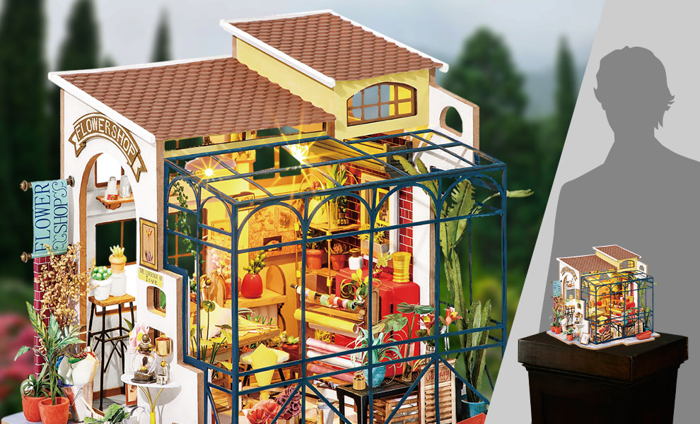 Gallery Feature Image of Emily's Flower Shop DIY Model Kit - Click to open image gallery