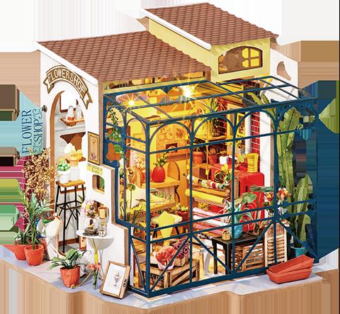 RoLife Emily's Flower Shop DIY Model Kit