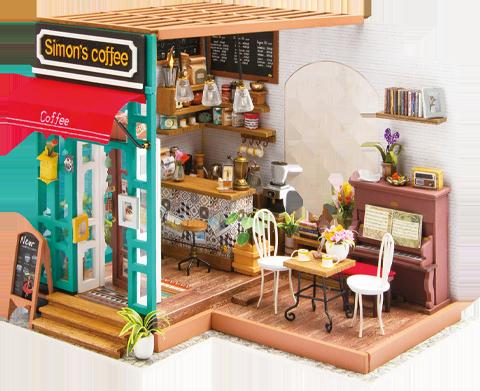 RoLife Simon's Coffee DIY Model Kit