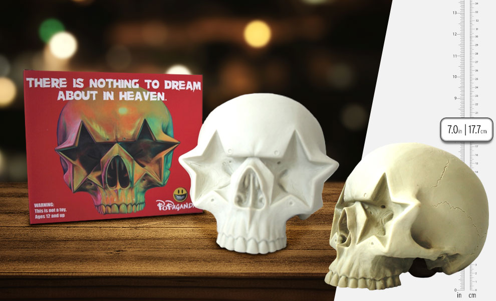 """Gallery Feature Image of Ron English """"Star Skull"""" Vinyl Collectible - Click to open image gallery"""