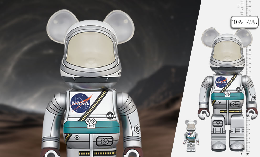 Gallery Feature Image of Be@rbrick Project Mercury Astronaut 100% and 400% Set Bearbrick - Click to open image gallery