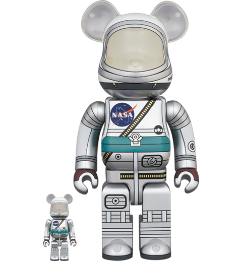 Medicom Toy Be@rbrick Project Mercury Astronaut 100% and 400% Set Bearbrick