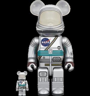 Be@rbrick Project Mercury Astronaut 100% and 400% Set Bearbrick