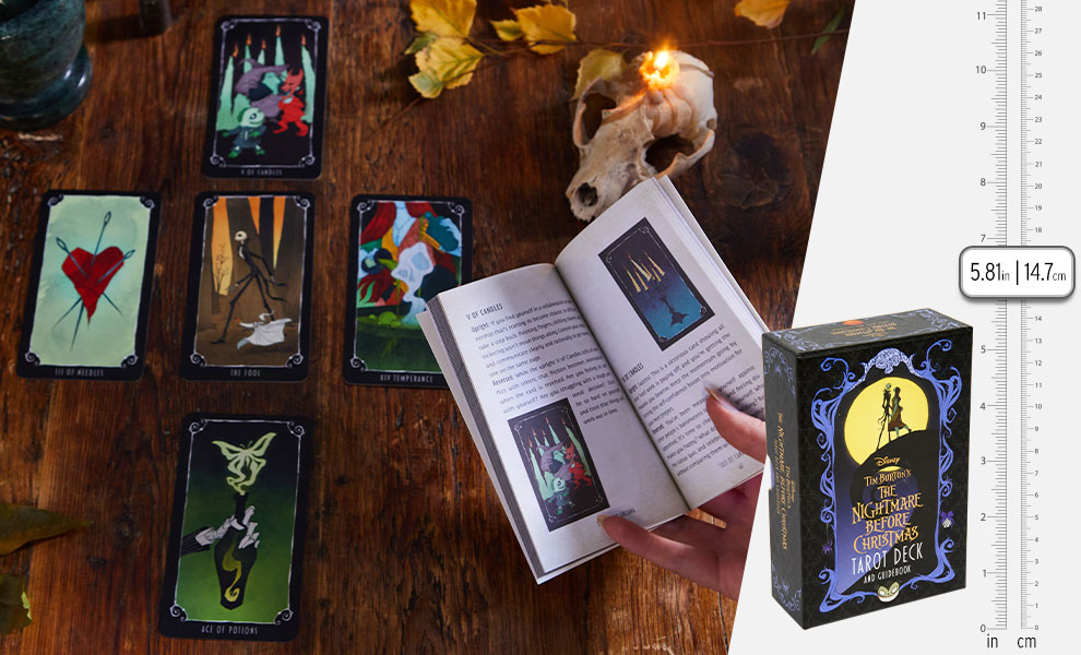 Gallery Feature Image of The Nightmare Before Christmas Tarot Deck and Guidebook Book - Click to open image gallery