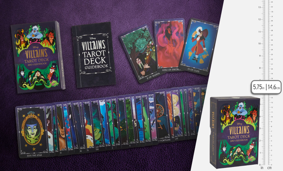 Gallery Feature Image of Disney Villains Tarot Deck and Guidebook Book - Click to open image gallery