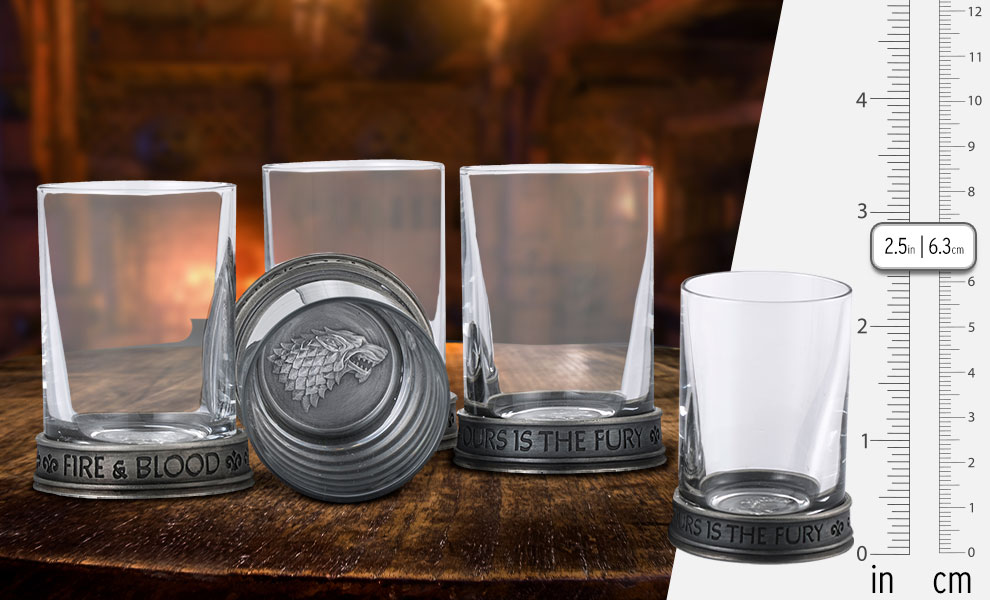 Gallery Feature Image of House Sigils Shot Glass Quartet Collectible Drinkware - Click to open image gallery