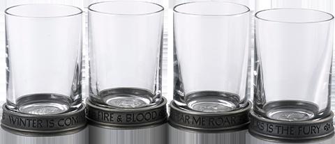Royal Selangor House Sigils Shot Glass Quartet Collectible Drinkware