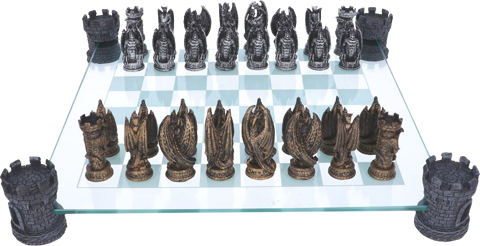 Nemesis Now Kingdom of the Dragon Chess Set Board Game