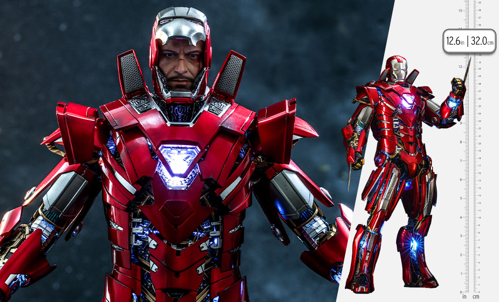 Gallery Feature Image of Silver Centurion (Armor Suit Up Version) Sixth Scale Figure - Click to open image gallery