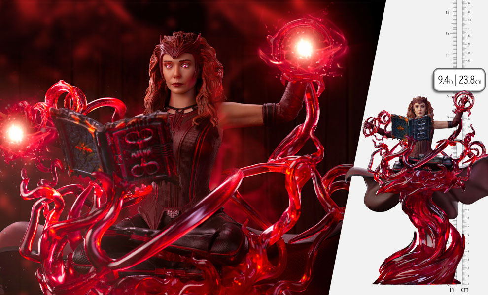 Gallery Feature Image of Scarlet Witch Deluxe 1:10 Scale Statue - Click to open image gallery