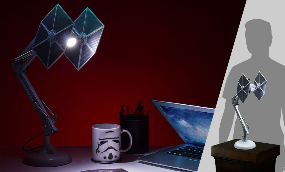 Gallery Feature Image of TIE Fighter Posable Desk Light Collectible Lamp - Click to open image gallery