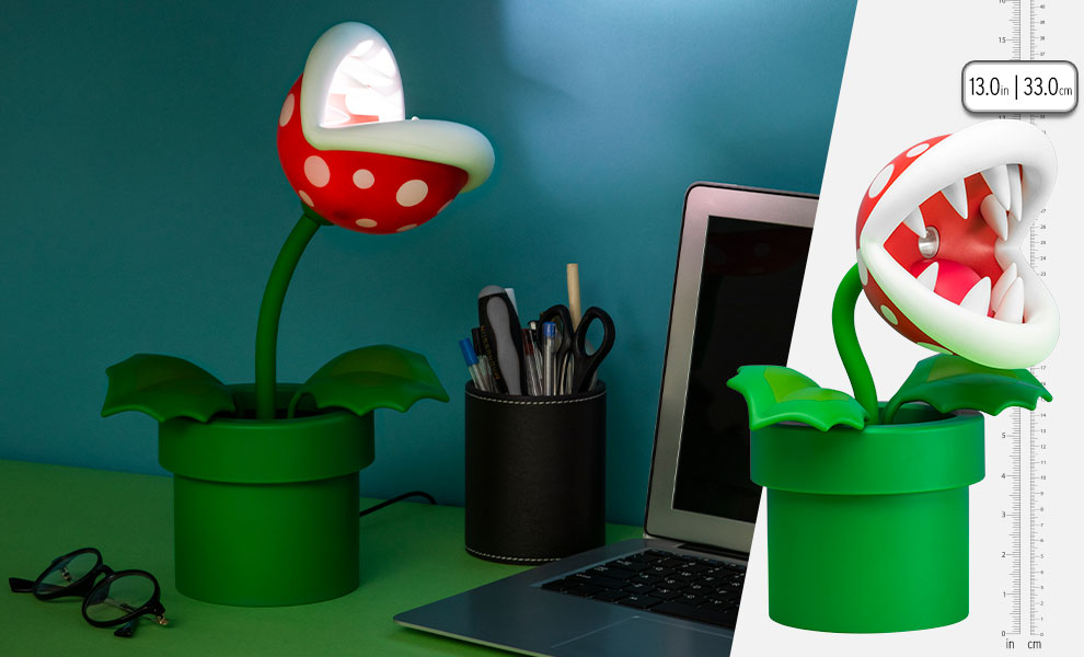Gallery Feature Image of Piranha Plant Posable Lamp Collectible Lamp - Click to open image gallery