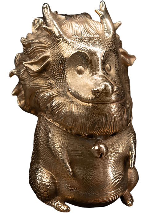 Manas SUM Teasie Beastie – Kirin (Copper) Figurine