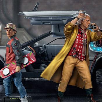 DeLorean Set Full Deluxe Version 1:10 Scale Statue