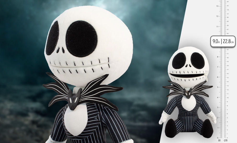 Gallery Feature Image of Jack Skellington Zippermouth Premium Plush - Click to open image gallery