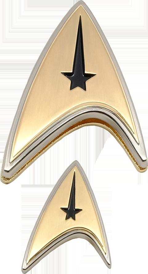 Quantum Mechanix Enterprise Command Badge and Pin Set Prop Replica