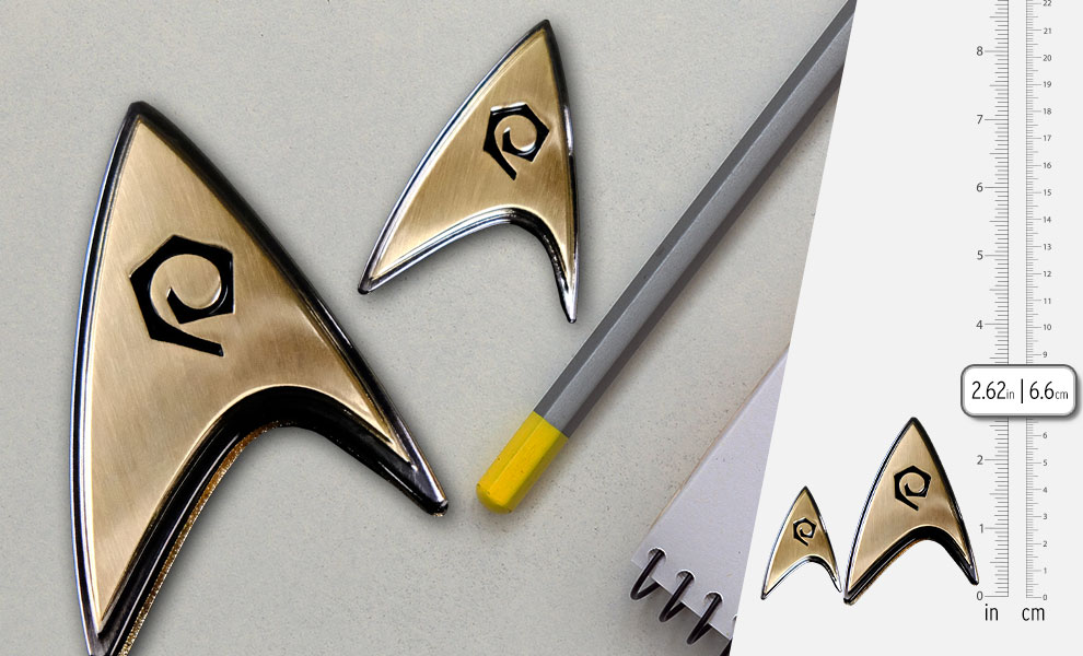 Gallery Feature Image of Enterprise Operations Badge and Pin Set Prop Replica - Click to open image gallery