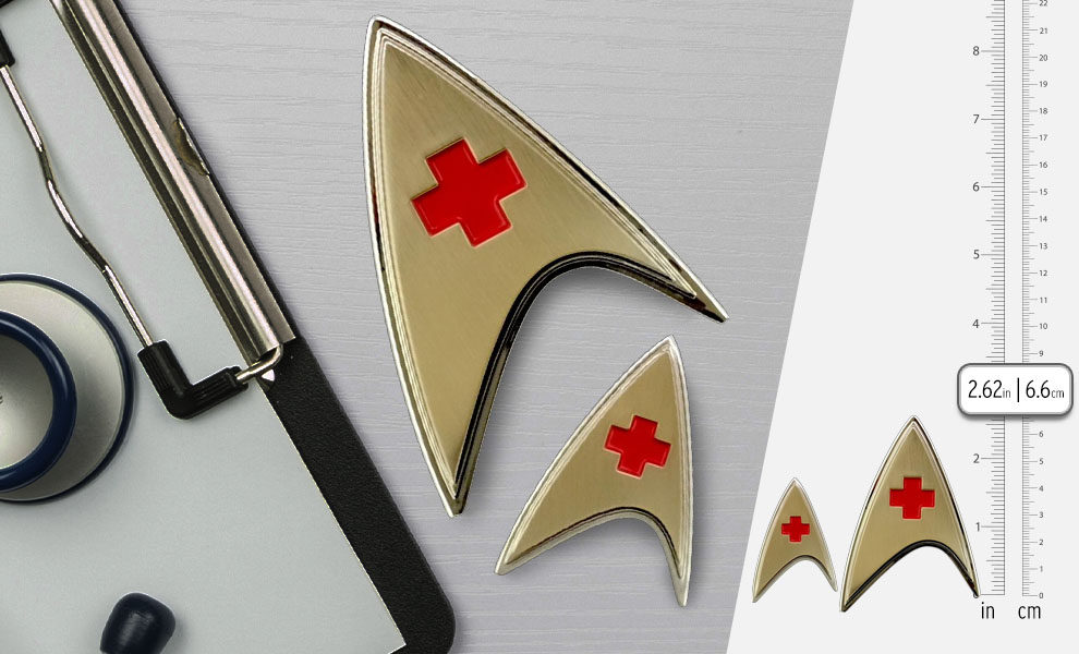 Gallery Feature Image of Enterprise Medical Badge and Pin Set Prop Replica - Click to open image gallery