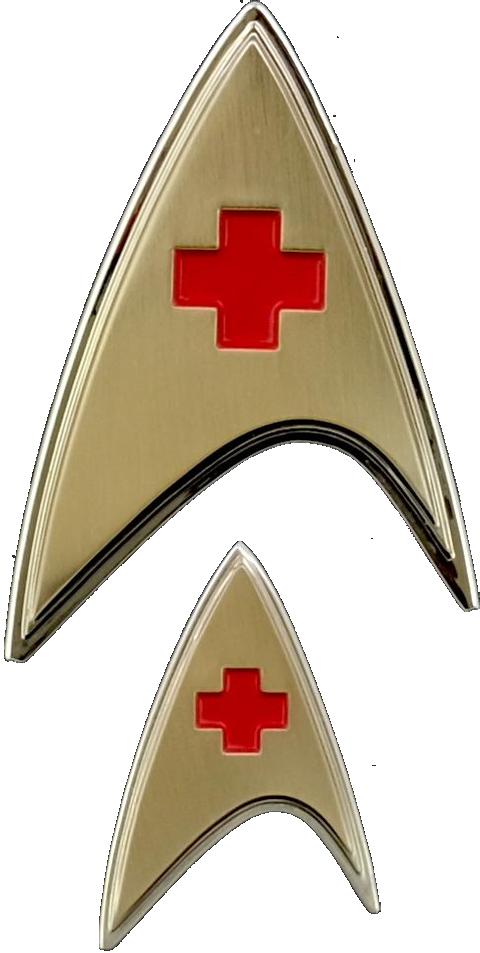 Quantum Mechanix Enterprise Medical Badge and Pin Set Prop Replica
