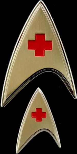 Enterprise Medical Badge and Pin Set Prop Replica