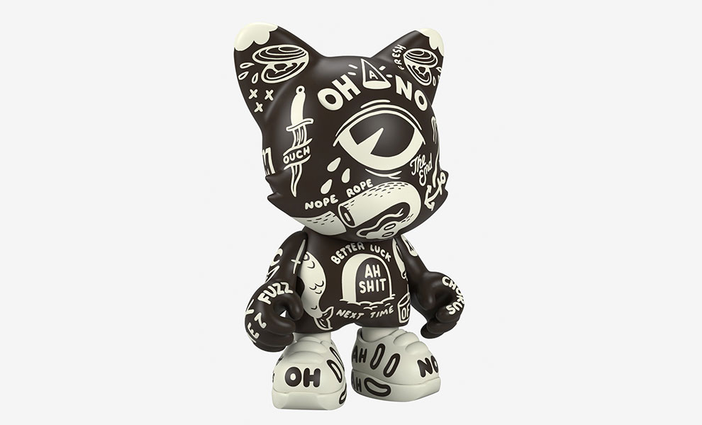 Gallery Feature Image of Oh-No BlackOut UberJanky Designer Collectible Toy - Click to open image gallery