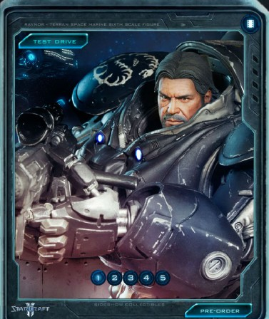 Test drive our Terran Space Marine Sixth Scale Figure!
