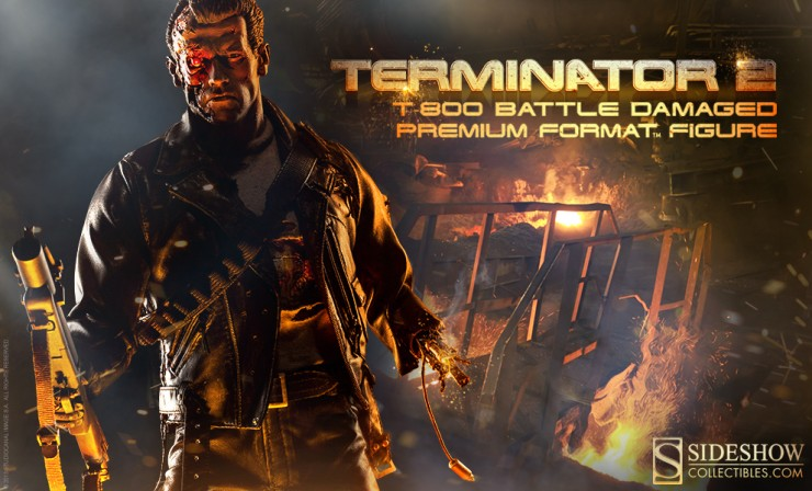 T-800 Terminator Battle Damaged Preview