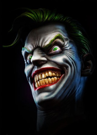 Service with a smile – up close with the Joker