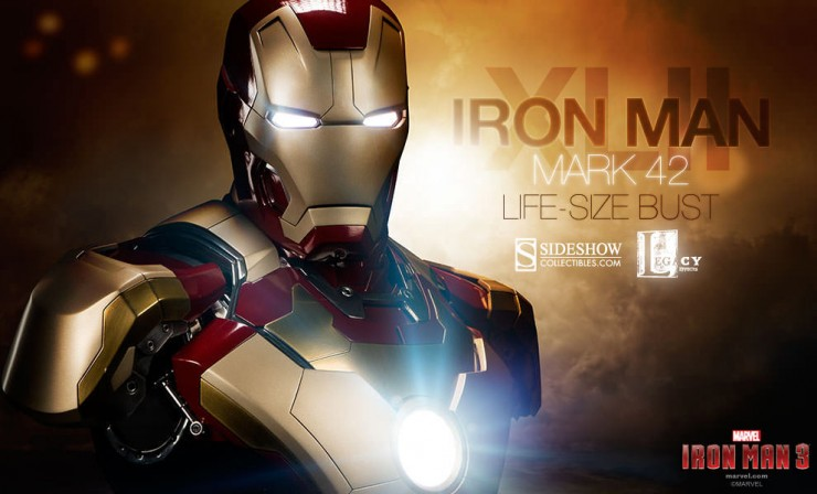 Iron Man Mark 42 Life-Size Bust Preview