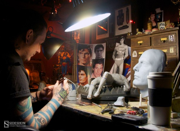Sculpting Christopher Reeve as Superman
