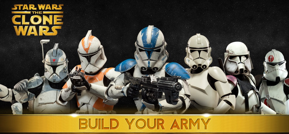 Star Wars The Clone Wars Clone Troopers Build Your Army