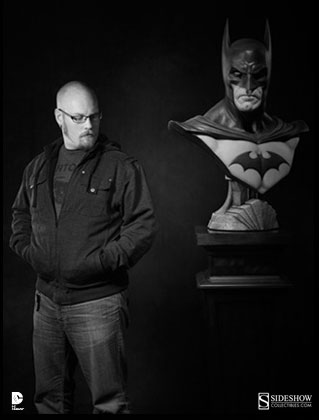 Andy Bergholtz and Life-Size Batman Bust