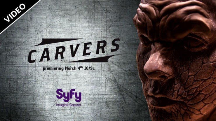 Sideshow sculptor Andy Bergholtz and Ray Villafane star in new Syfy original, Carvers