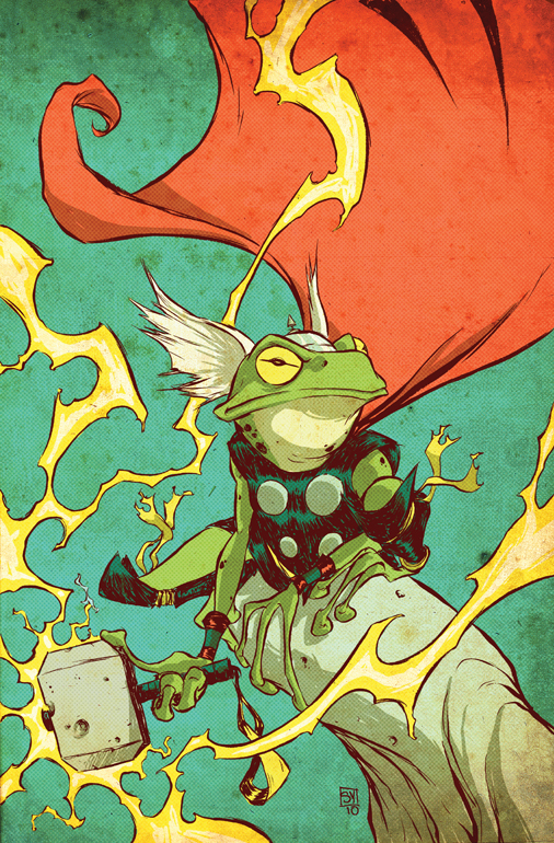 Thor Frog art by Skottie Young