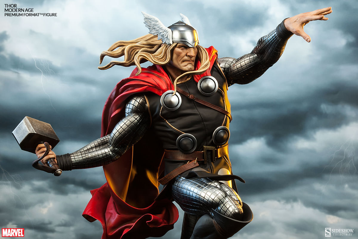 Statues Of Gods Modern Age Thor And Thor Frog Bring The Thunder Sideshow