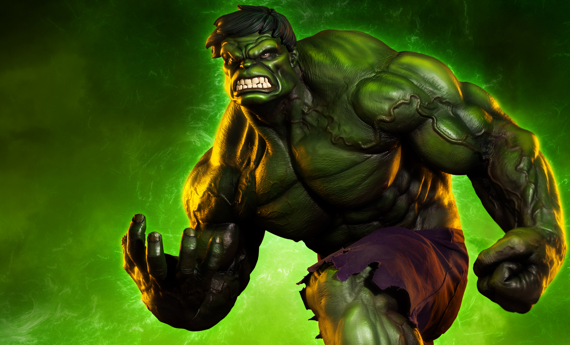 Here comes the incredible hulk sideshow collectibles