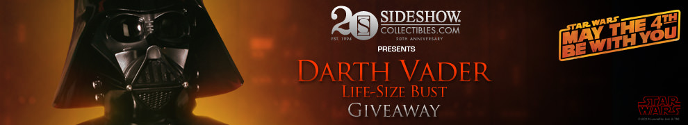 May the 4th Darth Vader Bust Giveaway!