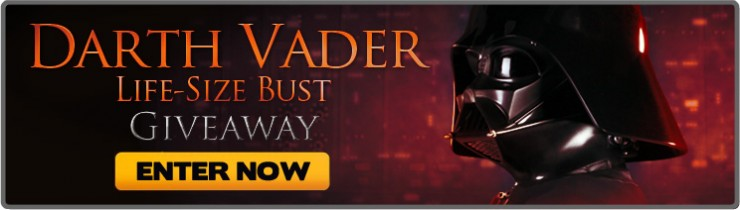 May the Fourth Star Wars Darth Vader Life Size Bust Giveaway