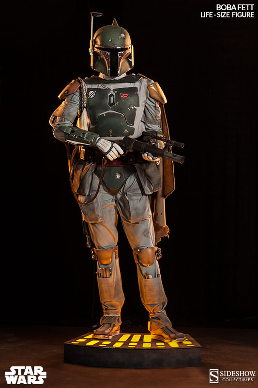 ultimate life size boba fett figure sideshow collectibles