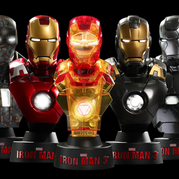 Hot Toys Marvel Collectible Bust - Iron Man 3 Deluxe (Set of Eight)