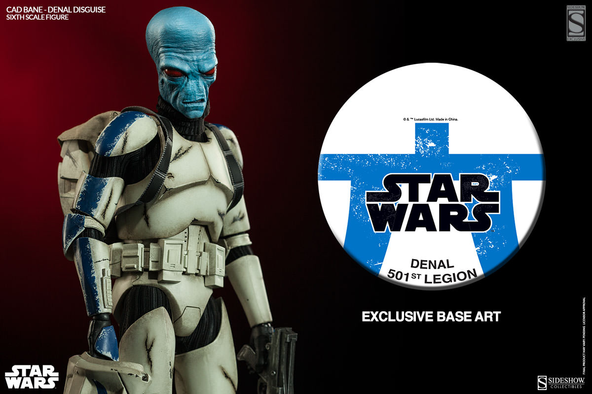 Star Wars Clone Wars Exclusive Cad Bane in Denal Disguise Sixth Scale Figure