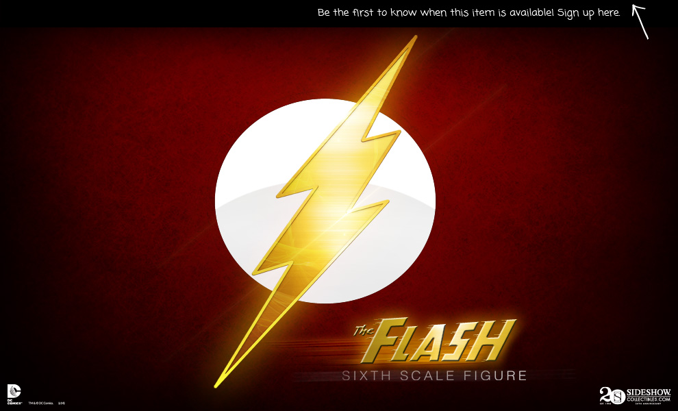 [Sideshow] DC Comics: Flash Sixth Scale Figure Preview_FlashSixthScale1