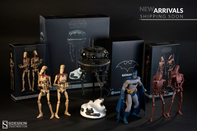 Look what's landed! Batman and Star Wars Sixth Scale figures coming soon