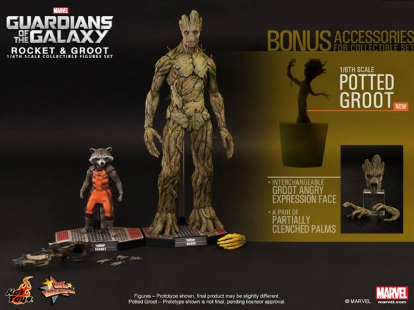 Hot Toys delivers! Fans will get a dancing Groot potted plant with Rocket & Groot set!