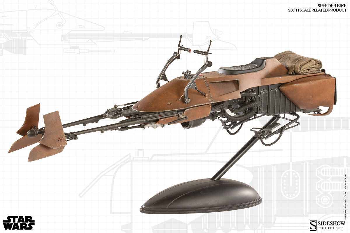 Incoming star wars speeder bike and scout trooper sixth scale figures