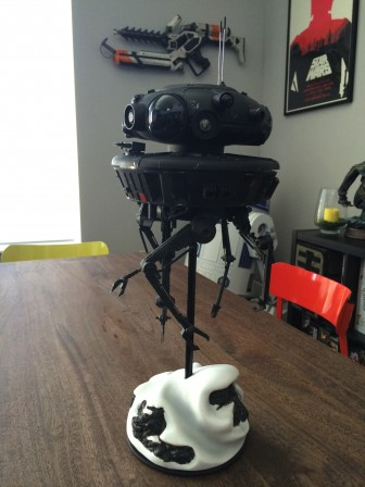 SlashFilm.com reviews the Sideshow Star Wars Imperial Probe Droid Sixth Scale Figure