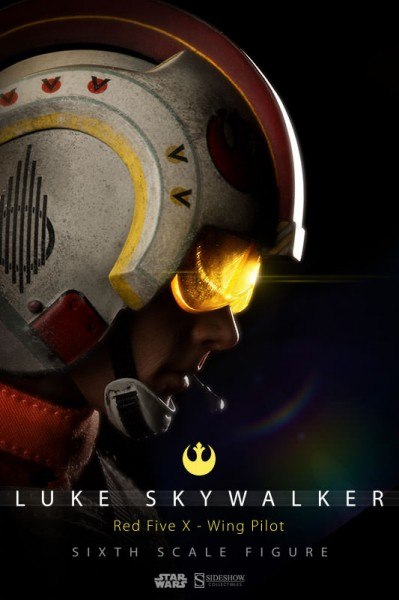 Red 5, standing by! Introducing the Luke Skywalker X-Wing Pilot Sixth Scale Figure